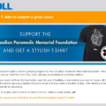 Fundraiser t-shirt for Cdn Paramedic Memorial Foundation